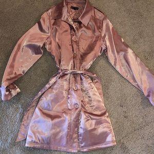 Jackets & Blazers - Bebe pink rain trench coat